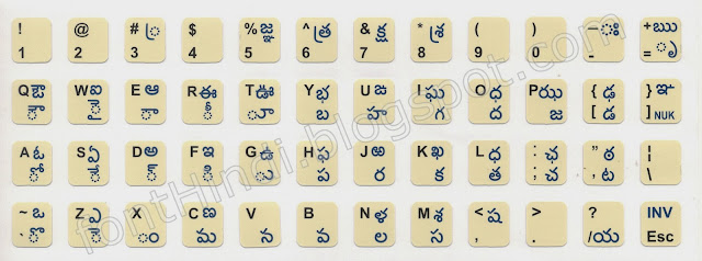 INscript Keyboard Layout for Telugu