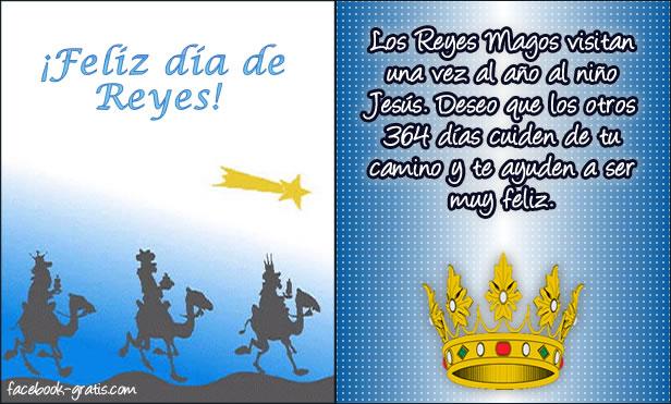 Tarjeta del día de Reyes