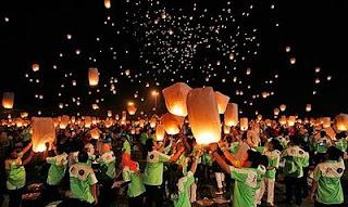 Rekor Dunia, Peluncuran Lampion Terbanyak di Ancol