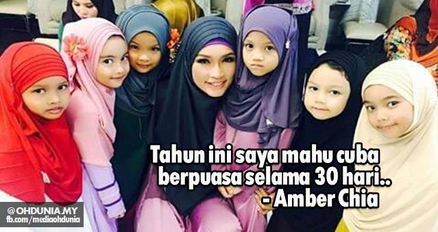 Ya, tahun ini saya mahu cuba berpuasa selama 30 hari - Amber Chia