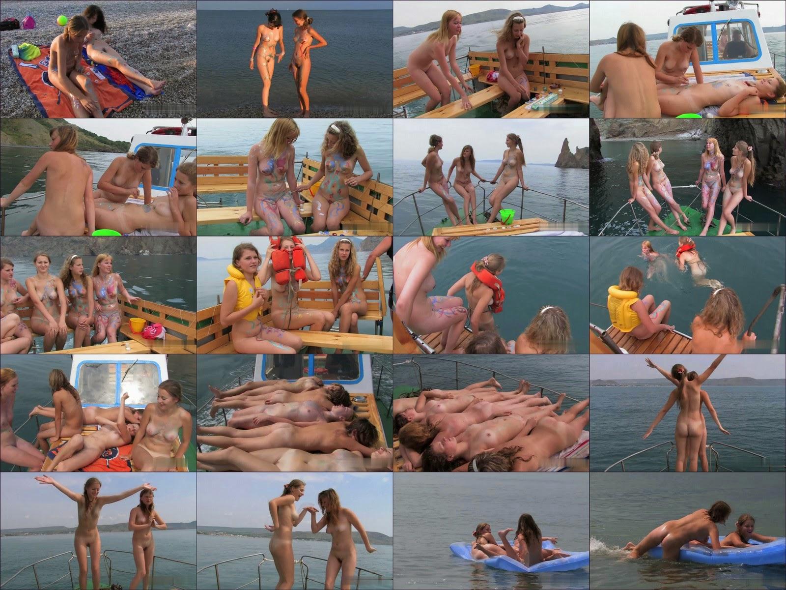 Body Art Nudist Beach. Part 2. Full version.
