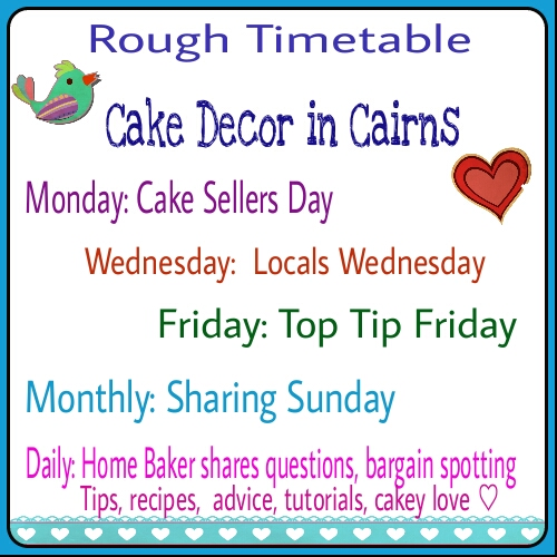 Cake Decorators share your cakes on Mondays. Wednesdays Local Sellers Advertise your business free. Friday Top Tips.