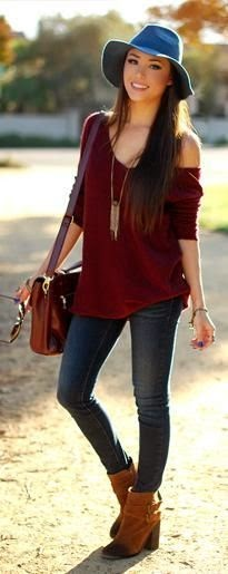 Casual Top Maroon The Best Street Style Inspiration