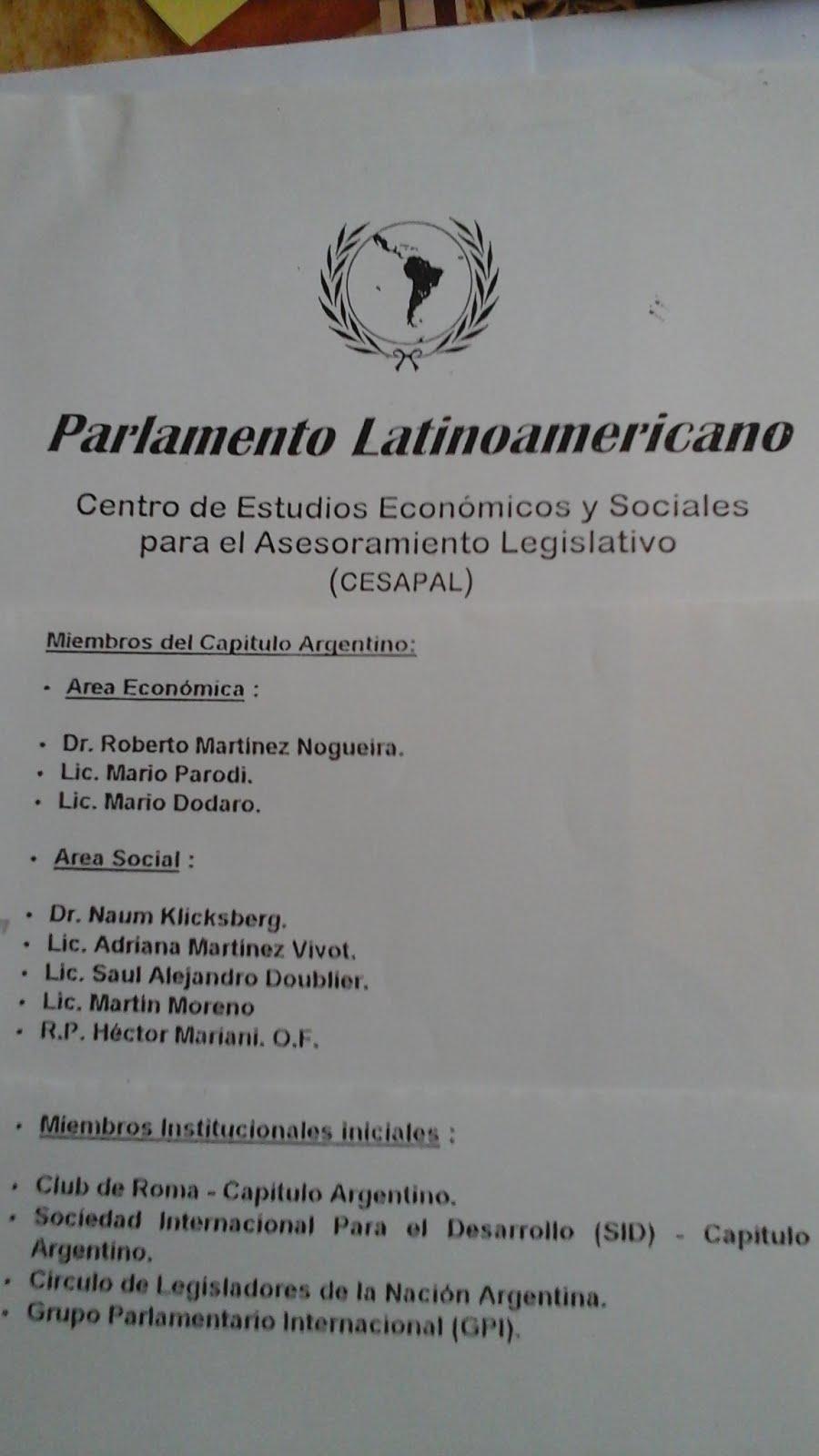 70 - Naum Kliksberg como asesor del Parlamento Latinoamericano. Argentina.1998.