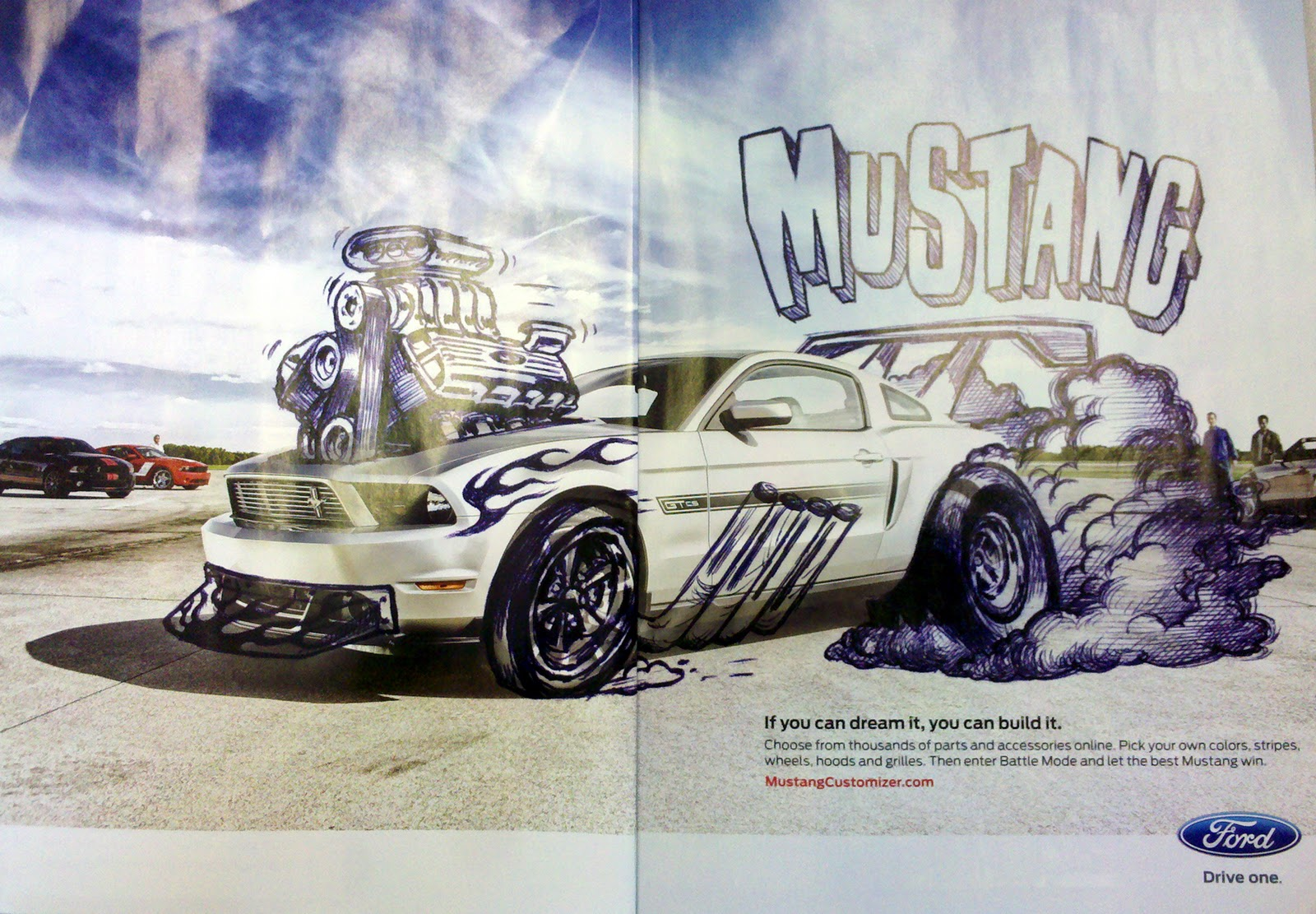 Just A Car Guy: cool 2 page magazine ad relies on you remembering ...
