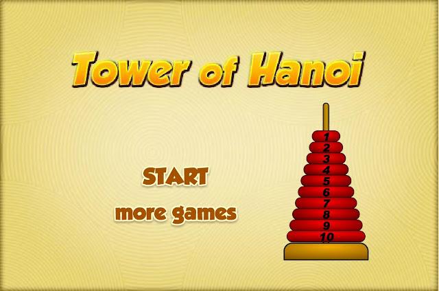 Funções: Torre de Hanoi. Clique para jogar.