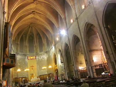 Gothic church of Santa Maria del Pi in Barcelona