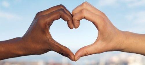 foto interracial: