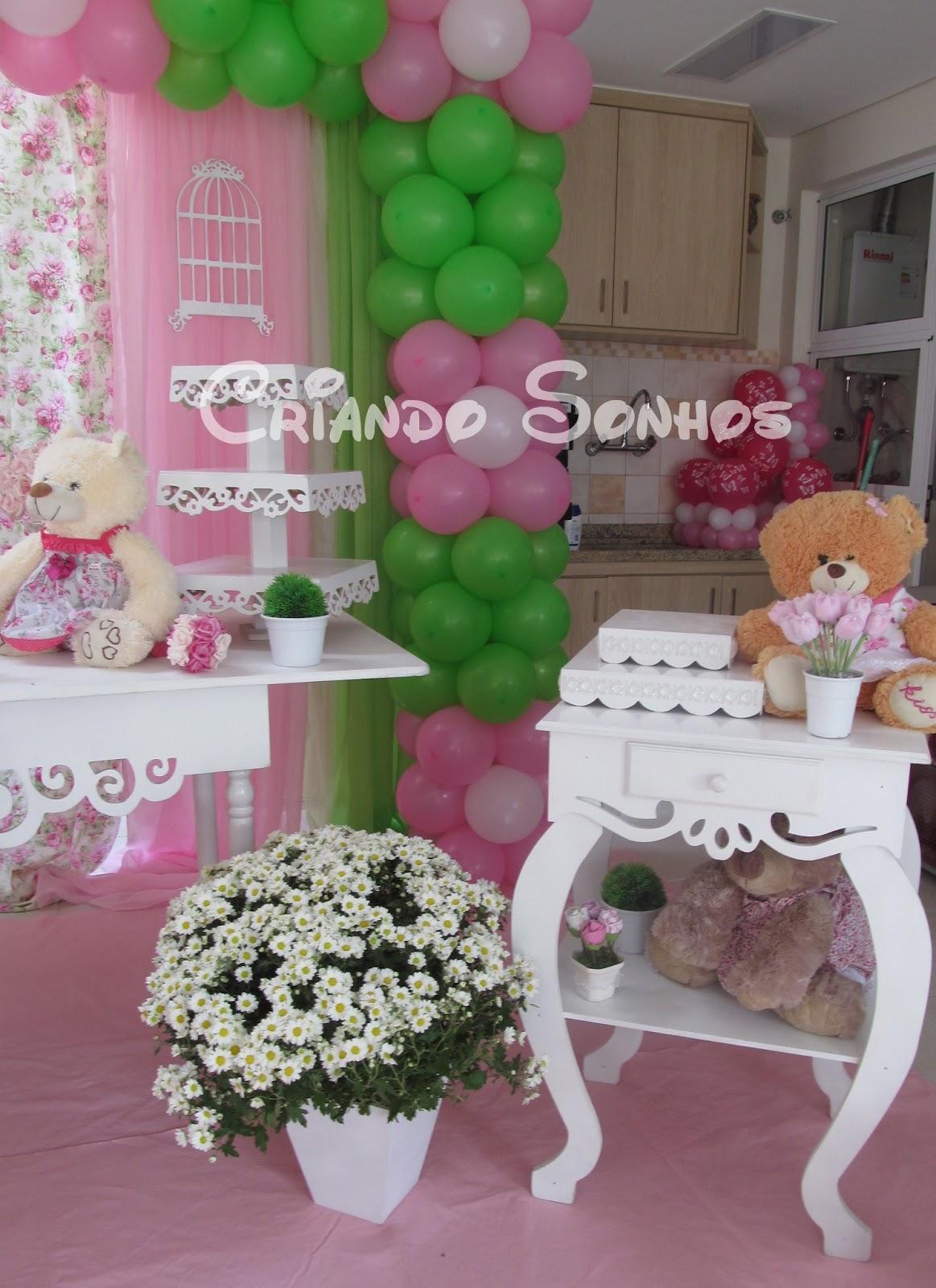 decoracao de festa infantil tema jardim:Tema Jardim das Ursas