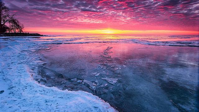Beautiful Ice Winter Lake HD Wallpaper