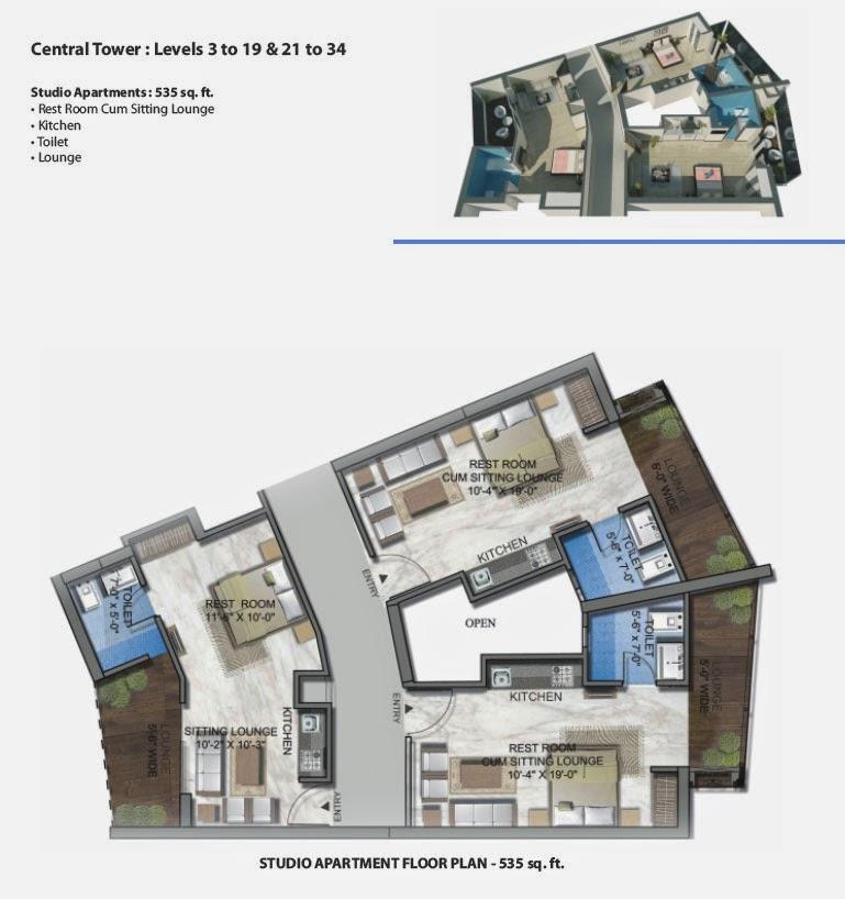 Floor Plan Studio Apartment