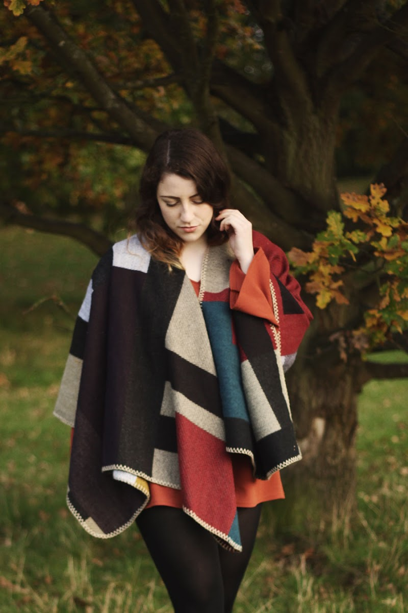 burberry poncho dupe