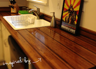 alicia's amazing wooden counter top