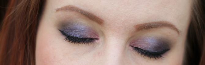 Purple eyes, eyes closed