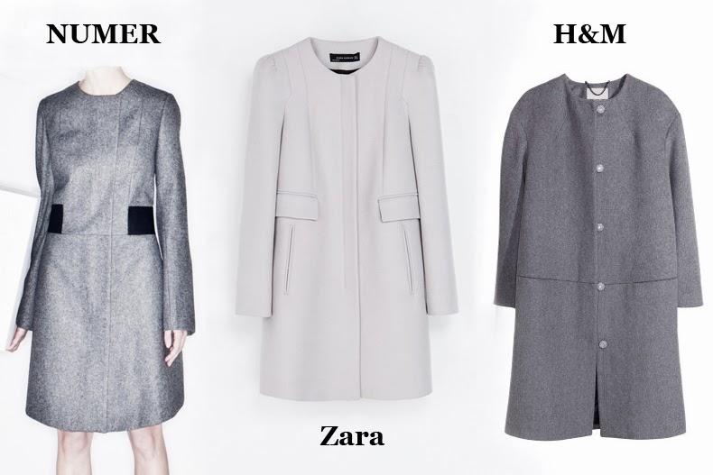 płaszcz o prostym kroju H&M