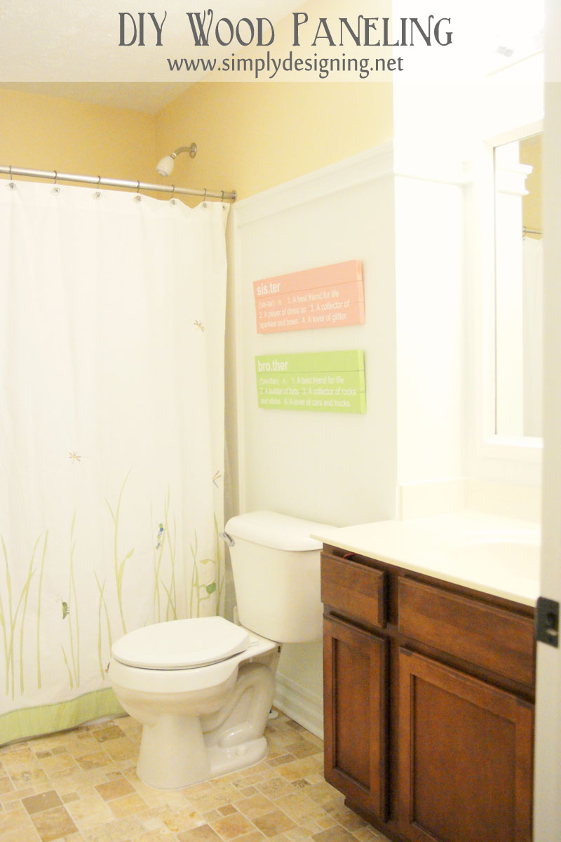 Diy wood paneling for Simply bathrooms