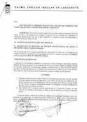 DECLARACION INSTITUCIONAL DEL CABILDO DE LANZAROTE