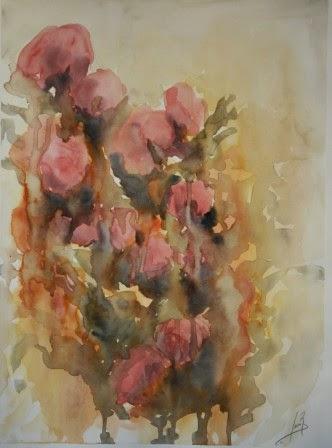 Flores Muertas. Acuarela 2012. 52x38cm
