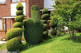 Seni tanaman hidup dengan tanaman border