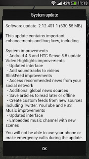 HTC One Mini also gets the Android 4.3 update with the Sense 5.5