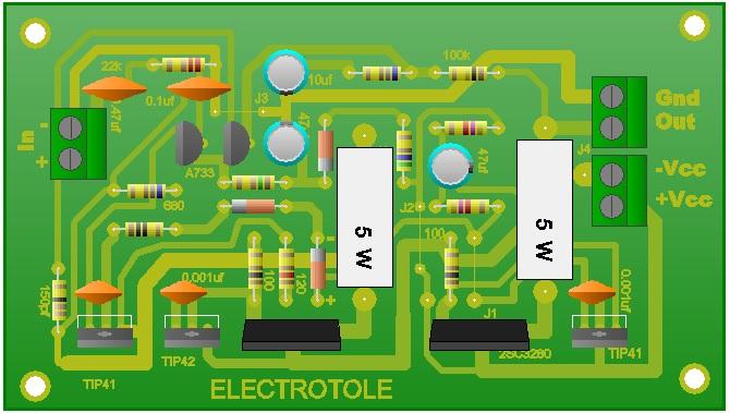 Circuito Impreso De Amplificador De 3000w : Amplificador de audio watt electrotole