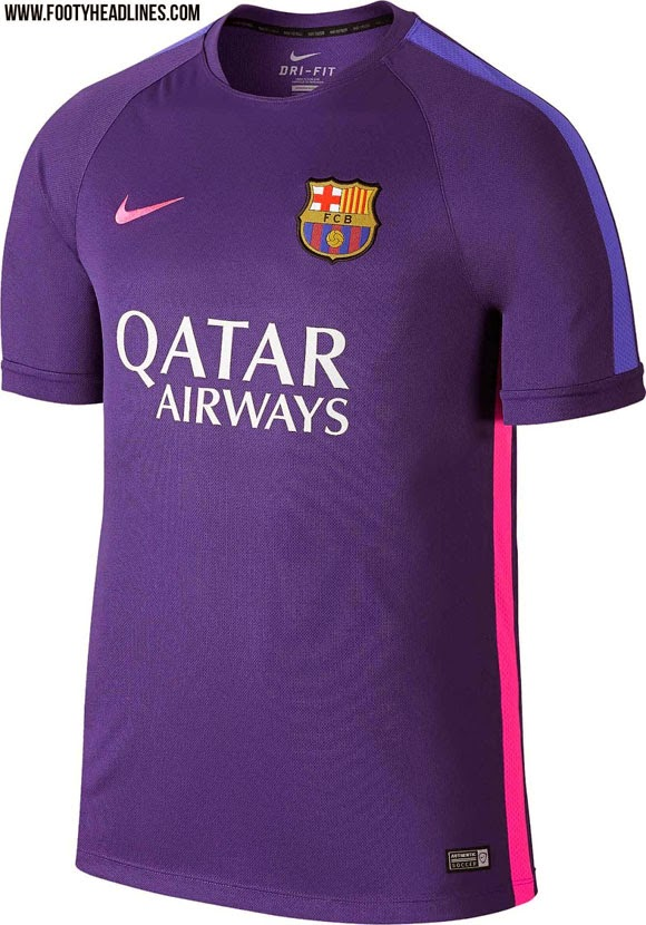 detail bocoran  Jersey Training Barcelona terbaru musim depan 2015/2016
