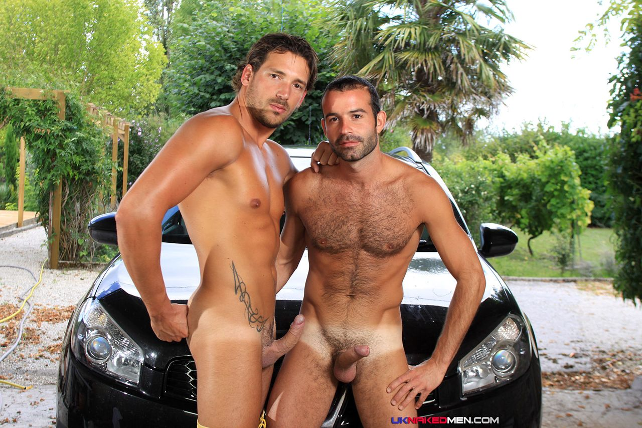 hot guys naked car wash