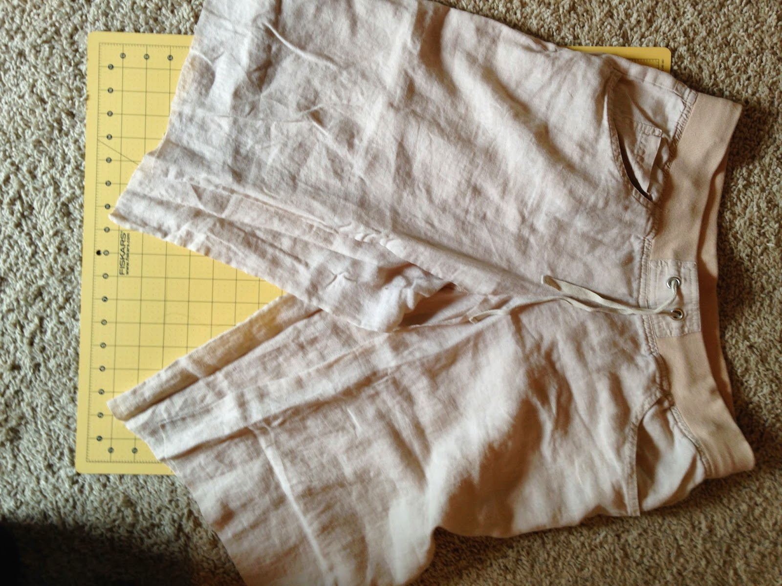 Ulterior Alterations: Linen Pant to Skirt Refashion First Chops