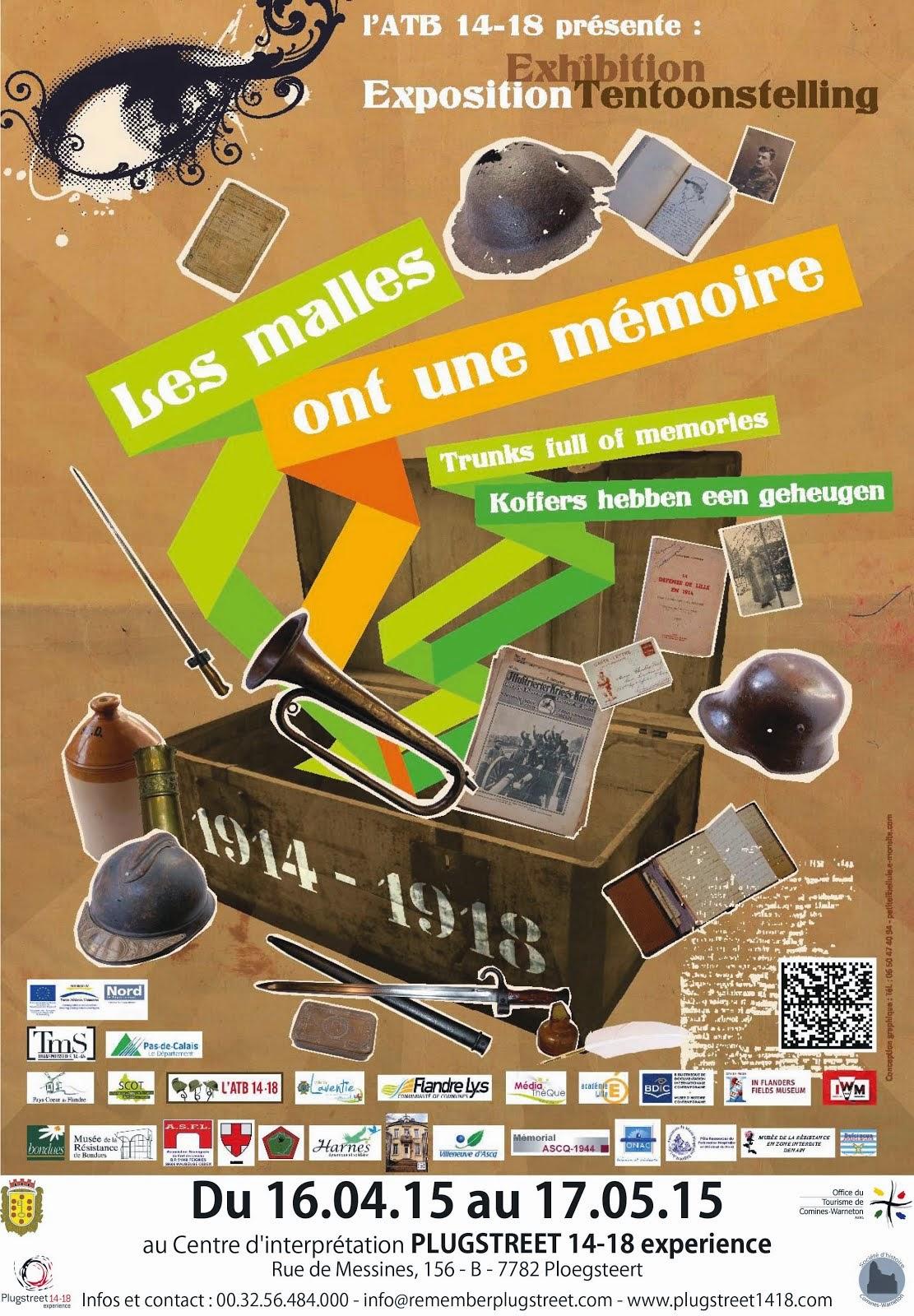 """16 et 17 avril exposition au centre d'interprétation  """" PLUGSTREET """""""