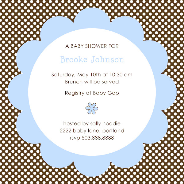 Choco-Dot Baby Shower Invitation