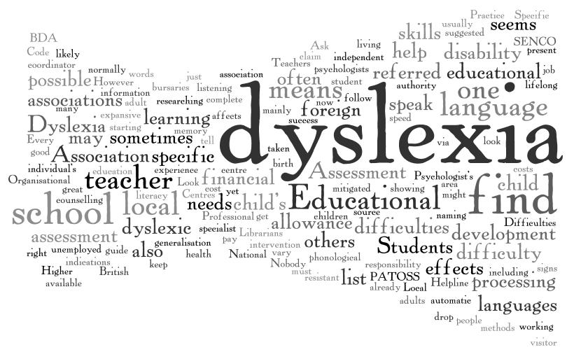 the characteristics of dyslexia a language based disorder Homeschooling a child with a learning disability  is considered a language-based learning disorder,  simmons university characteristics for dyslexia.