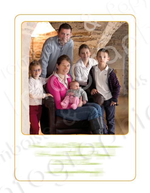 Photo de famille pour remerciements sur mesure