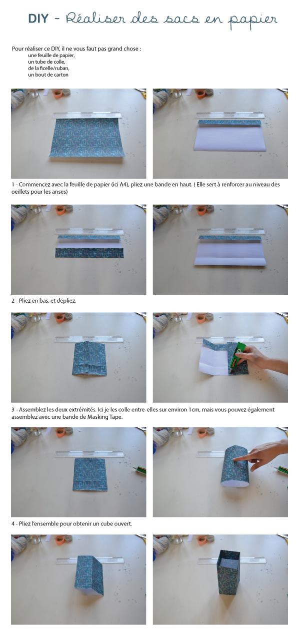 Rose et vert diy sac en papier - Comment faire un emballage cadeau ...