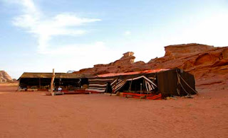 Bedouin Tent Wadi Rum Judean Desert Jordan
