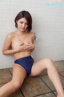 Tsubasa Akimoto Japanese Gravure Idol Sexy Blue Bikini ...