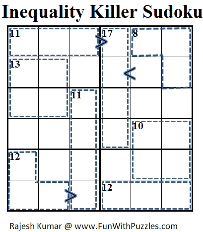 Inequality Killer Sudoku (Mini Sudoku Series #34)