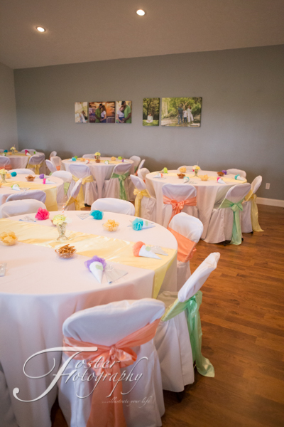 the table linens chair covers and sashes came from chairital bliss