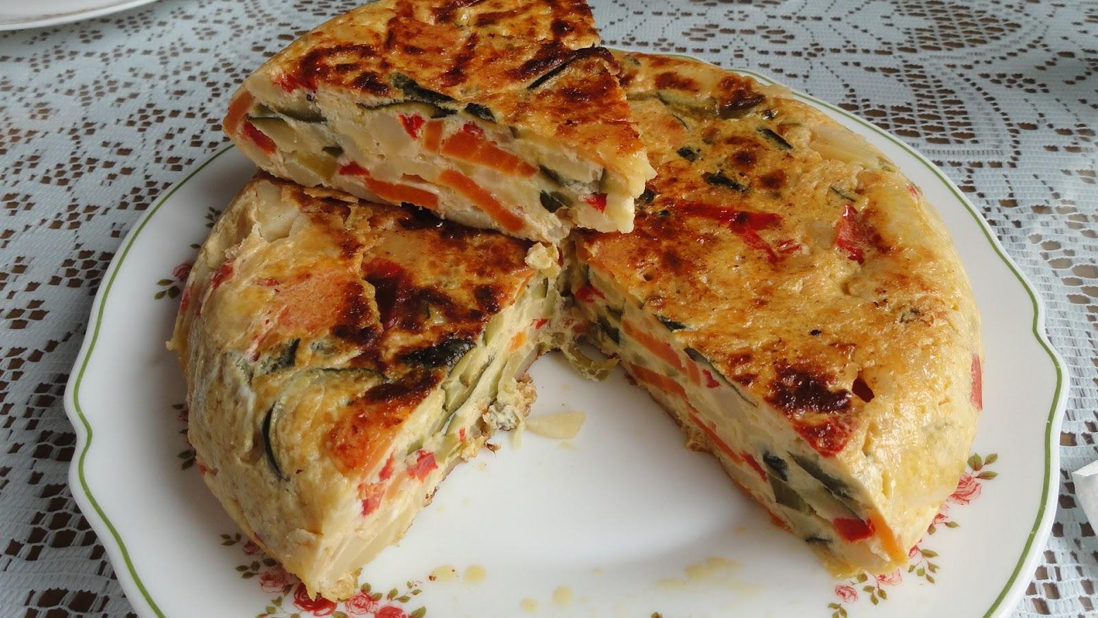 Mari recetas tortilla de verduras preparaci n previa - Tortilla en el microondas ...