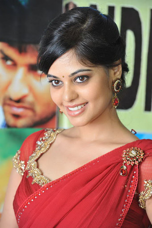 Gorgeous Actress Bindu Madhavi Red Saree Photos