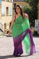 Tamanna, In, Light, Green, Saree