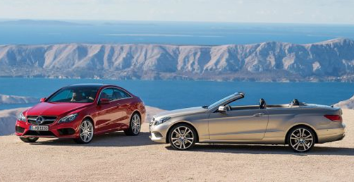 2014 mercedes benz e-class cabriolet and coupe on mountain