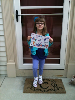 Madeline's first day of Kindergarten!