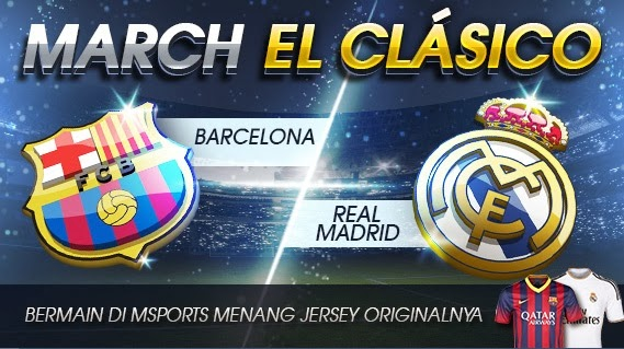 Menangkan Jersey Original Real Madrid VS Barcelona 23 Maret 2014