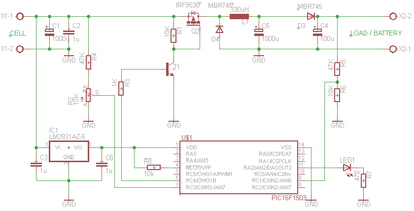 Pic16f1503 Based Mppt Controller For on step down converter controller