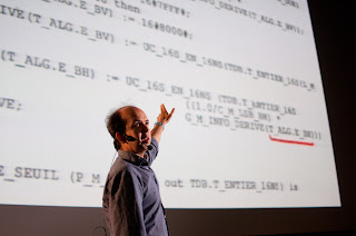"Kevlin Henney giving his ""Cool Code"" lecture at GeeCON 2012."