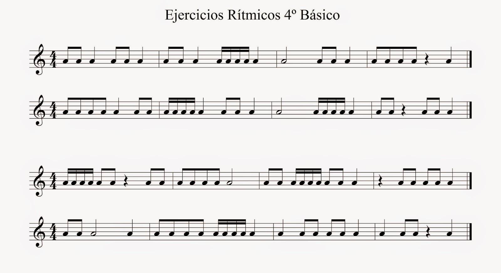 Ejercicios Ritmicos Basicos Rítmicos 4º Básico