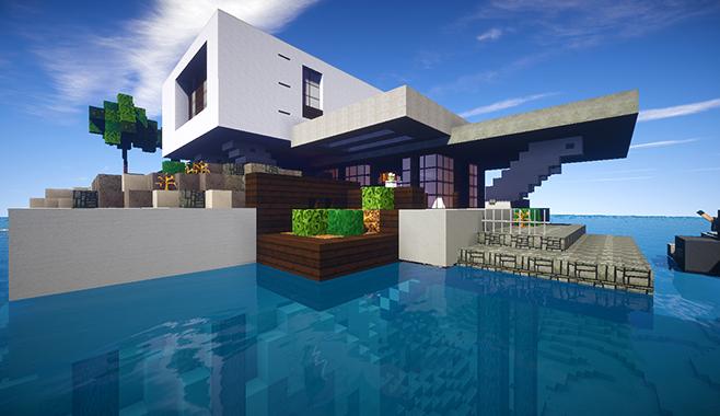 Casa moderna skybuild constru es de minecraft for Casa moderna 8