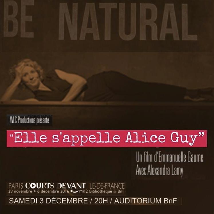 """""""Elle s'appelle ALICE GUY"""" d'Emmanuelle Gaume avec Alexandra Lamy"""