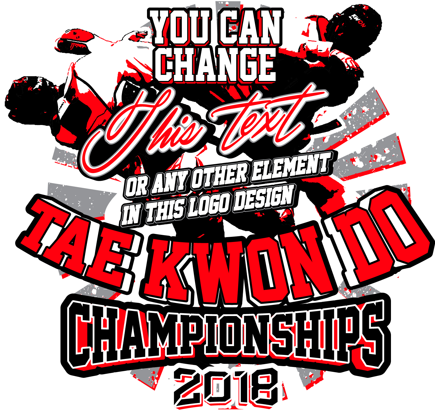 TAEKWONDO T-SHIRT DESIGN READY FOR PRINT