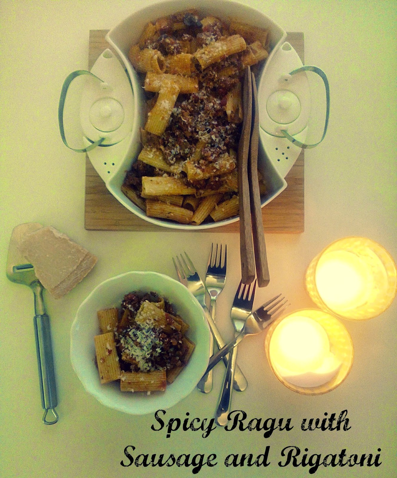 PASTA COOKING CHALLENGE: SPICY RAGU WITH SAUSAGE AND RIGATONI ...